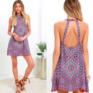 MINKPINK WildForTheNight Aztec Cut out Back Dress